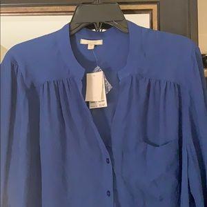 Beautiful Blue Tunic Blouse